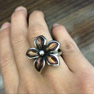 Jame savers retired flower petal ring